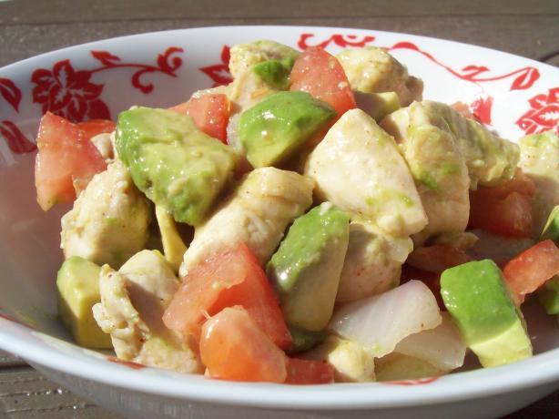 Lime Chicken-Avocado Salad