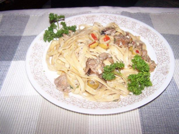 Fettuccine With Italian Sausage and Olives