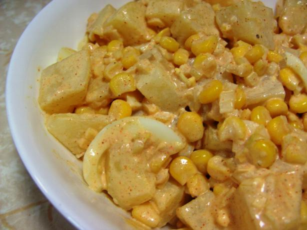 Potato, Egg and Corn Salad With Buttermilk