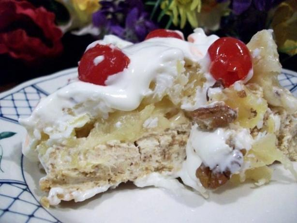 Low Fat Easy Banana Split Bars