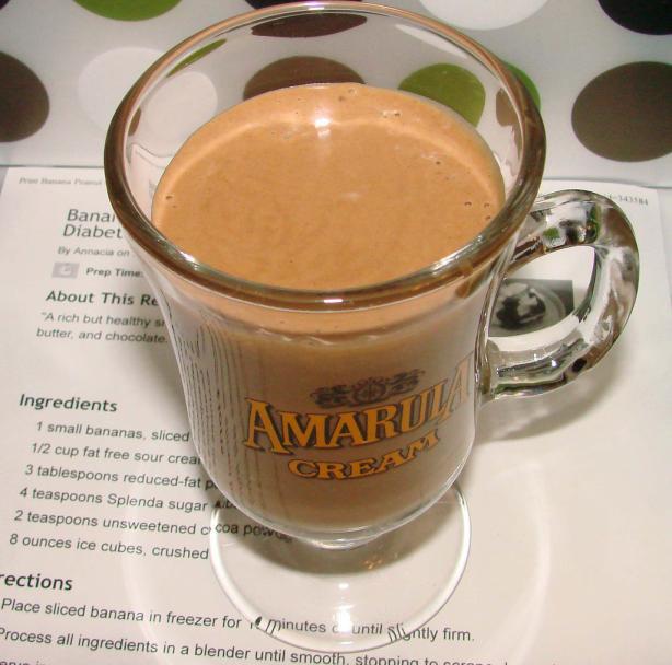 Banana Peanut Chocolate Smoothie, Diabetic
