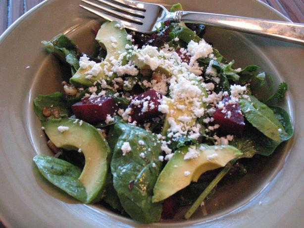Beet, Avocado and Goat Cheese Salad