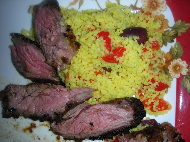 Moroccan Skirt Steak W/Roasted Pepper Couscous (ZWT-9)