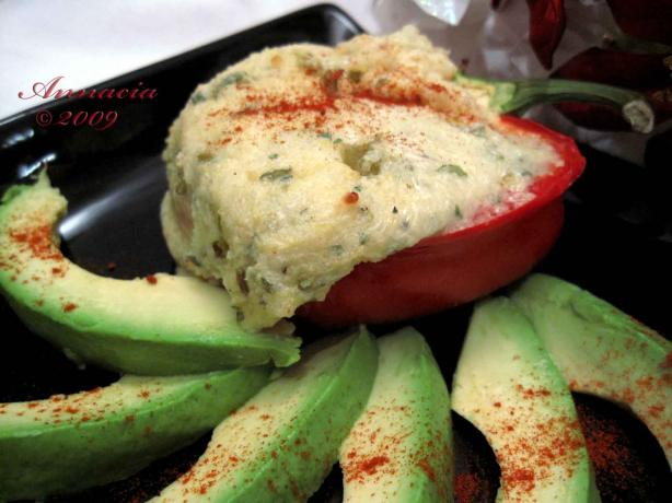 Stuffed Red Peppers With Cheesy Polenta and Green Chiles
