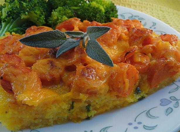 Baked Polenta Carrot Casserole