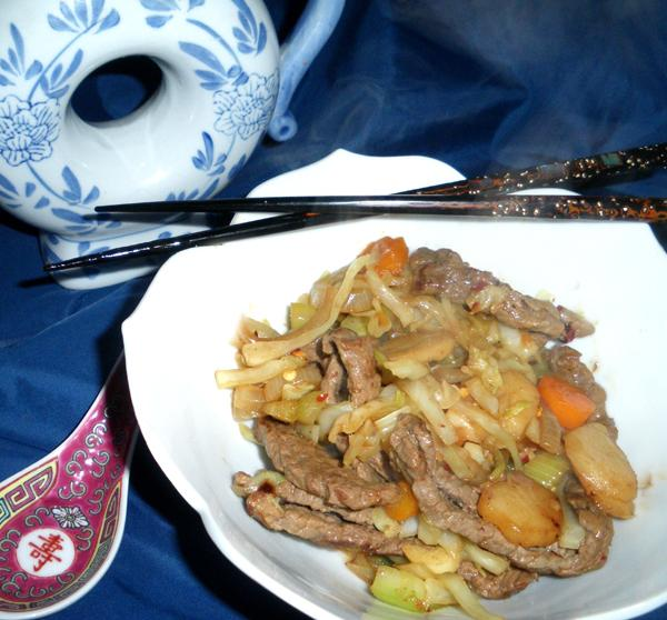 Beef Cabbage Stir-fry