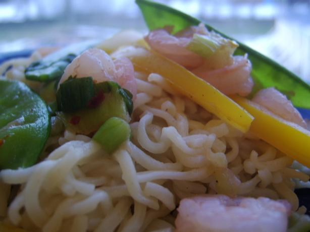 Shrimp and Ramen Noodle Stir-Fry