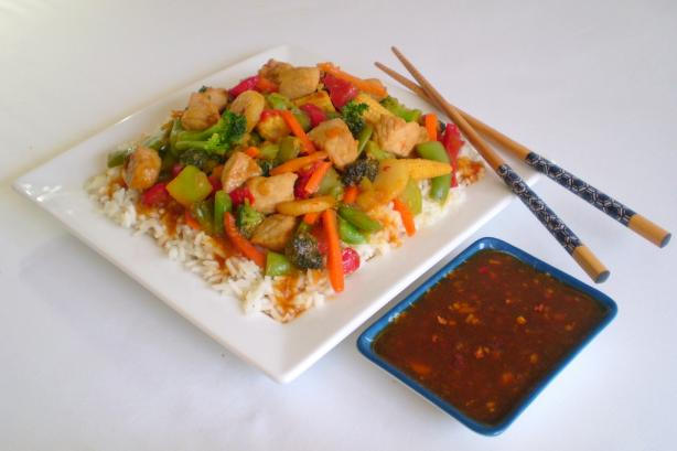 Spicy Peach Stir-Fry Sauce