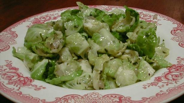 Sauteed Brussels Sprouts Leaves