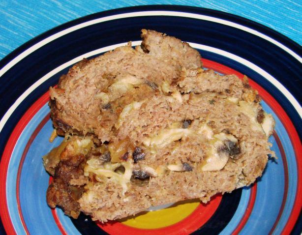 Cheese and Mushroom-Stuffed Meatloaf