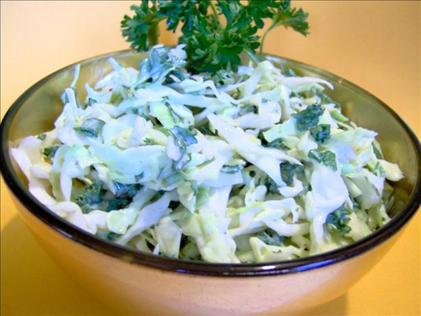 Cabbage Parsley Coleslaw