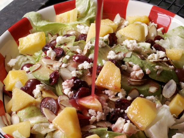 Craisin' Green Salad With Pears