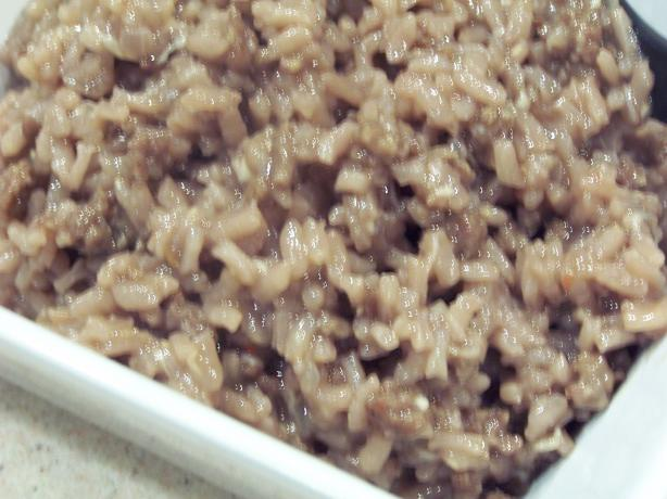Risotto With Red Wine and Sausages