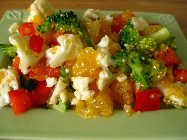 Cauliflower Orange Salad (Raw Food)