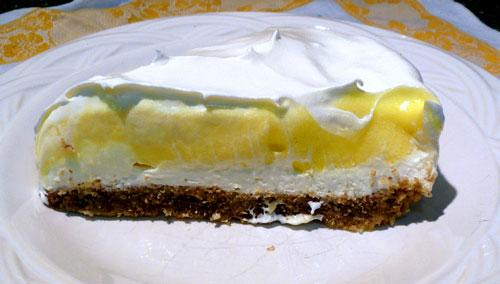 Light & Creamy Layered Lemon Cheesecake