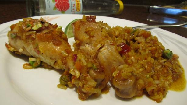 Chicken With Saffron Jeweled Rice