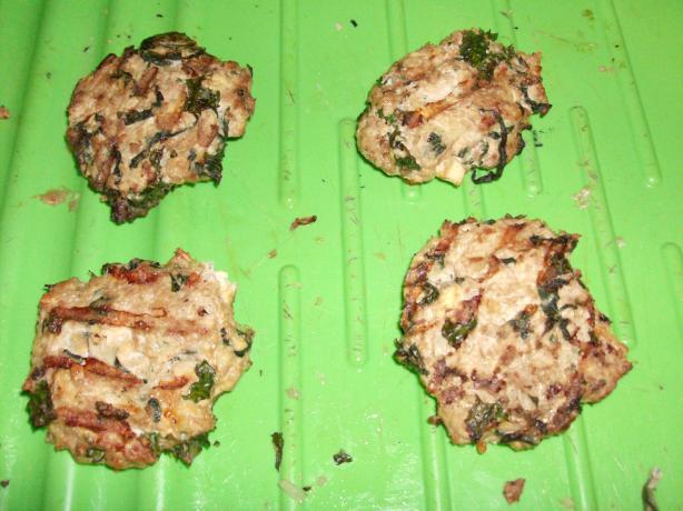 Gluten Free Spinach Tofu Turkey Burgers