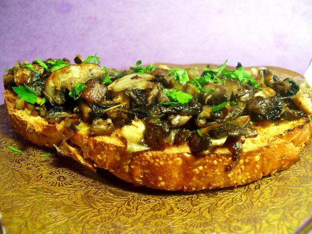 Three Mushrooms Crostini