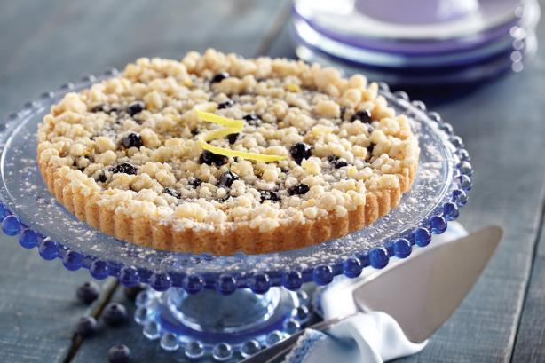 Blueberry Cookie Tart