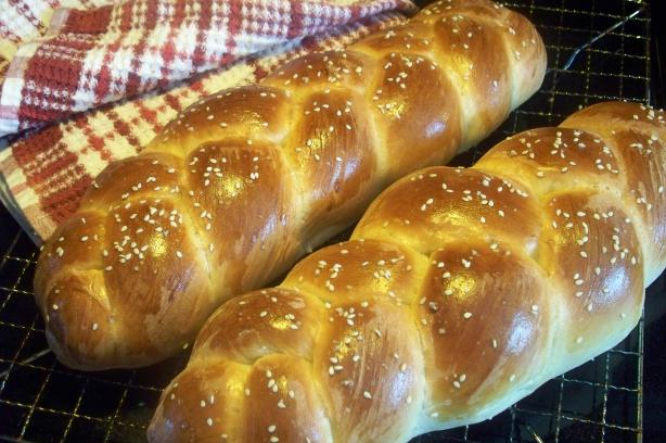 Braided Challah Bread (Bread Machine)