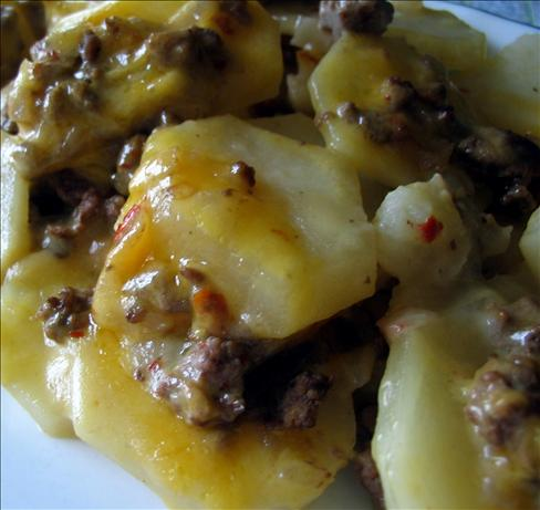 Kittencal's Scalloped Potato and Ground Beef Casserole
