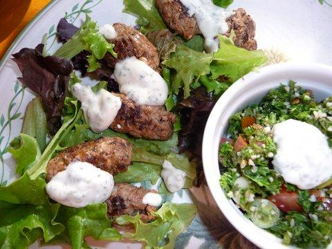 Lamb Sticks With Herb Yoghurt Dip