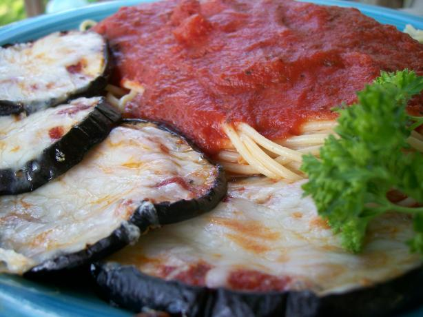 Reduced-Fat Eggplant (Aubergine) Parmesan