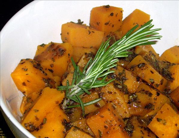 Squash With Apple Cider and Herb Glaze - Stove Top