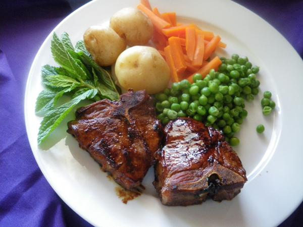 BBQ Hinty Minty Lamb Chops