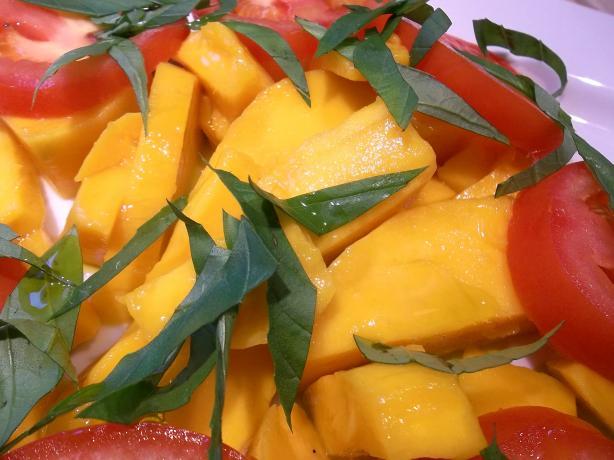 St. Bart's No-Fuss Tomato Mango Salad