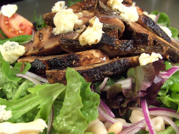 Blackened Portobello Mushroom Salad