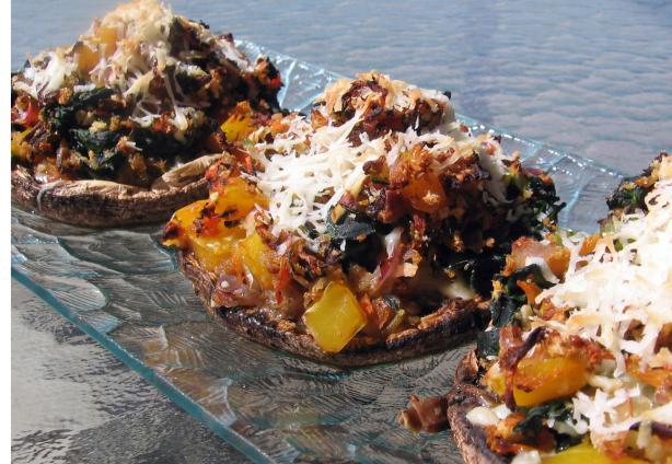 Veggie Filled Portobello Mushrooms