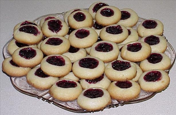 Shortbread Cookies With Jam or Jelly Centers