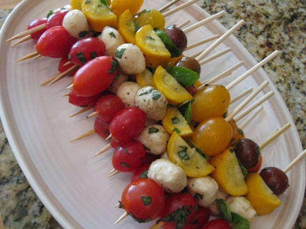 Fresh Caprese Vegetable Kabobs