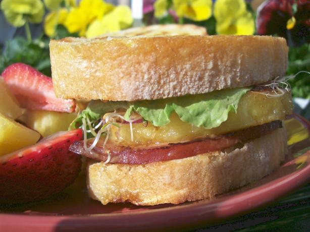 Grilled Mustard Ham and Pineapple Sandwiches