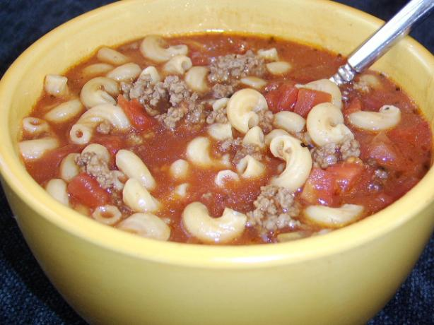 Pantry Tomato Beef Soup