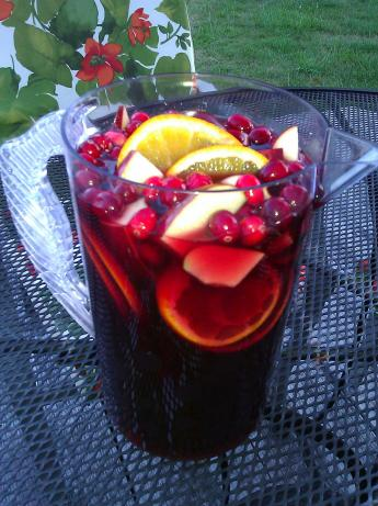 Jolly Cranberry Juice Sangria