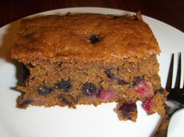 Spicy Molasses Blueberry Cake