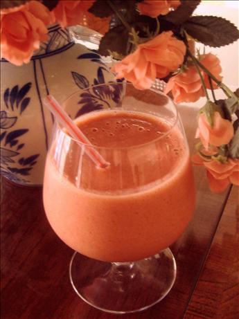 Strawberry-Orange-Banana Frappe
