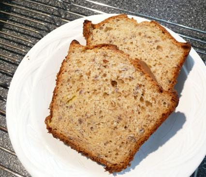Easy Lower Sugar Banana Flax Bread