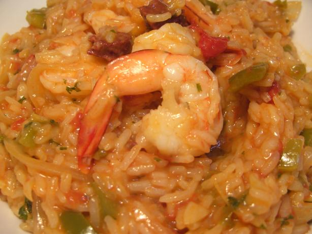 Spanish Rice and Prawn One Pot
