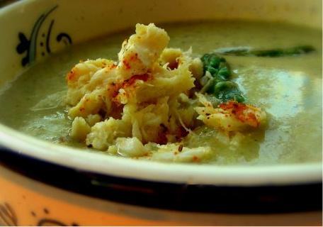 Creme D'argenteuil Au Crabe (Asparagus Soup W/Crab -- France)