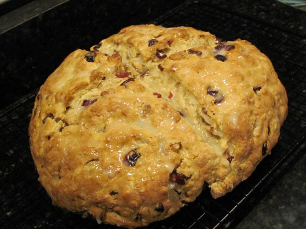 Cranberry Soda Bread With Lime Glaze