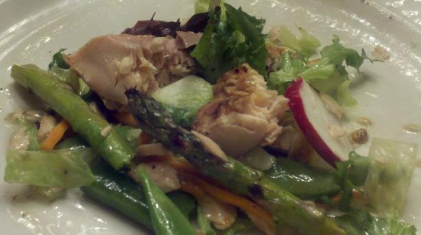 Salmon Salad With Bright Spring Vegetables