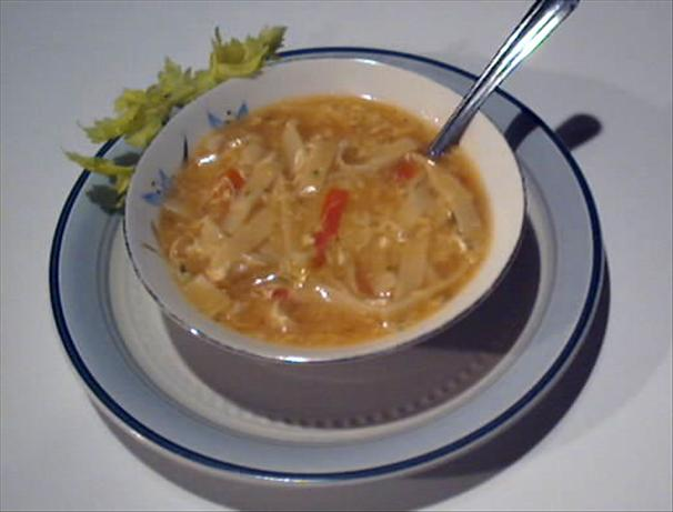 Sweet and Sour Egg Drop Soup
