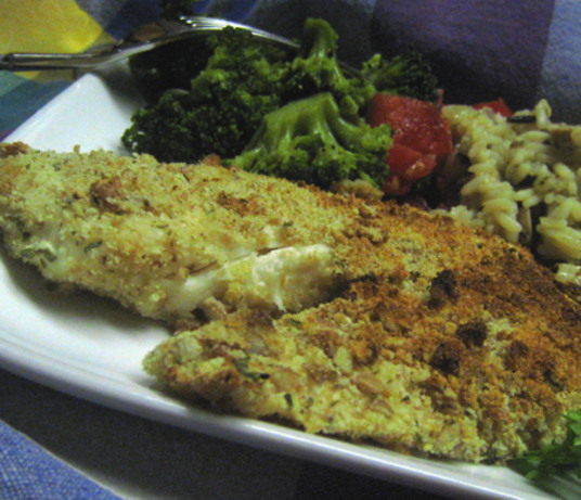 Nutty Oven Fried Fish