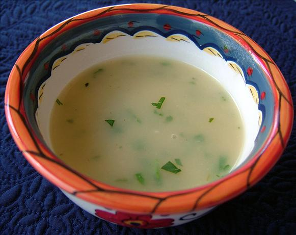 Fresh Coriander Soup (Sopa De Coentro)