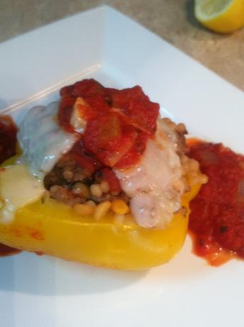 Stuffed Peppers With Couscous or Harvest Grain Blend