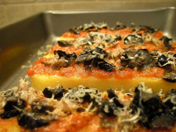 Easy Polenta Pizza Appetizer Bakes