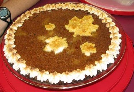 Pumpkin Eggnog Custard Pie